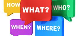 comunicazione e giornalismo, Speech balloons with questions
