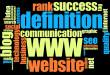 Internet word cloud concept over black background